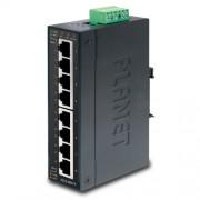 PLANET IP30 Slim type 8-Port Industrial Gigabit Ethernet Switch (-40 to 75 degree C)