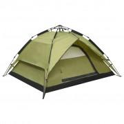 vidaXL Pop up палатка за къмпинг 2-3-местна 240x210x140 см зелена