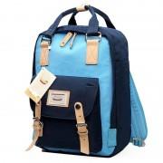 Fashion Casual rugzak Laptop tas Student reistas met handvat grootte: 38 * 28 * 15 cm (Baby blauw + donker blauw)