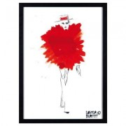 Mlle Fatale Rouge Pouf poster