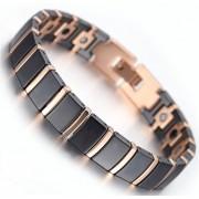 Kerdynelle Bracelet magnétique céramique Athena noir et cuivre avec aimants