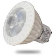 LED lámpa , égő , szpot , GU10 foglalat , 7 Watt , 38° , hideg fehér