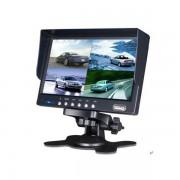 """7"""" 4 CH TFT LCD Tolatókamera monitor osztott kijelzővel"""