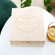 smartphoto Gravierte Teebox aus Holz