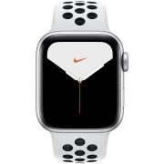 Apple Watch Series 5 Nike+ 40mm, ezüstszínű alumíniumtok platinaszín-fekete Nike sportszíjjal