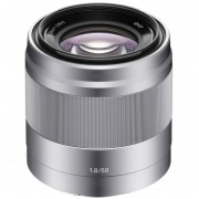 Lente Sony E 50mm F1.8 OSS NEX SEL50F18 - Plateado