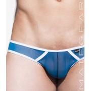 Mategear So Nam V Flat Front Half Back Mini Bikini Swimwear Blue 1800602