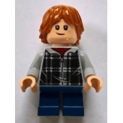 hp154 Minifigurina LEGO Harry Potter-Ron Weasley, bluză în carouri hp1