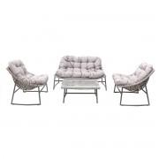 Salón de jardín diseño gris COMFY - Miliboo