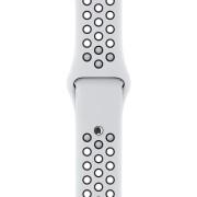 Curea Sport Perforata, compatibila Apple Watch 1/2/3/4, Silicon, 42mm/44mm, Alb / Negru
