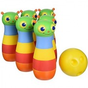Melissa & Doug Sunny Patch Happy Giddy Bowling Set With 6 Pins Bowling Ball and Storage Bag