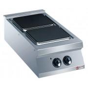 Diamond Cuisinière Electrique INOX 2 Plaques Réglables Séparemment 2x4kW 400x900x250/320(h)mm