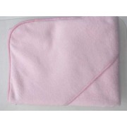 Gyermek kapucnis fürdőlepedő 90x90 rózsaszín Vixi