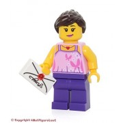 Lego Holiday Minifigure - Girl (Bright Pink Top w/ Butterflies & Flowers) 40236