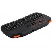 Viboton S1 Draadloos en oplaadbaar 2.4GHz Russisch toetsenbord met 83-toetsen Air Mouse en touchpad functie voor PC Pad Android / Google TV Box Xbox360 PS3 HTPC / IPTV (zwart)