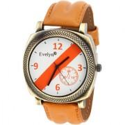 Evelyn Quartz Analog White Round Dial Men's Watch EVE-544