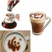 Beste Prijs 16 Stks Mold Koffie Melk Cake Cupcake Stencil Template Koffie Barista Cappuccino Template Strooi Pad Duster Spray Gereedschap YKPuii
