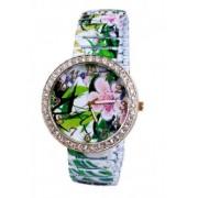 Часовник гривна с цветя