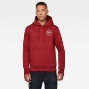 G-star RAW Hommes Sweat à capuche Round Originals Rouge