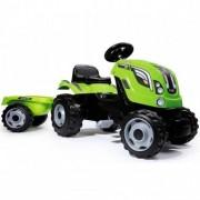 Tractor cu pedale si remorca Smoby Fun Farmer XL Verde