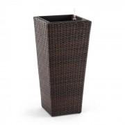 Primaflor Hydro Vaso per Piante 37x76x37 cm Irrigazione Polyrattan Bicolore