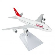 Swiss Boeing 747 16cm Metal Airplane Models Child Birthday Gift Plane Models Home Decoration