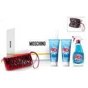 Moschino Fresh Couture Woda toaletowa 100ml spray + Balsam do ciała 100ml + Żel pod prysznic 100ml + Zestaw do manicure