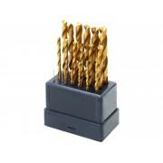Свредла за метал, комплект 19бр, Ø 1-10mm, , 118°, HSS TiN, 1119A, EXTOL CRAFT