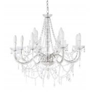 Maisons du Monde Lámpara de araña blanca de metal con lágrimas y 12 brazos Diám. 73 cm ISABEAU