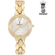 SEGGO SG-2206 Latest Design Stainless Steel Women's / Ladies Beautiful Remarkable Analog Wrist Watch - For Girls