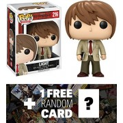 Light Yagami: Funko POP! Animation x Death Note Vinyl Figure + 1 FREE Anime Themed Trading Card Bundle (06364)