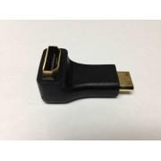 90 Degree Female HDMI Type A (Standard HDMI) to Male mini HDMI (Type C) - Port Saver / Converter