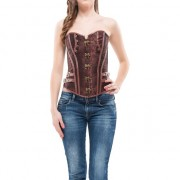 INTIMAX - CORSET FAIZA MARRON S