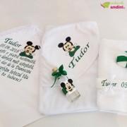 Trusou Botez Baby Mickey Mouse - Verde