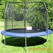 Trampolino elastico Deluxe cm 370 + rete protezione