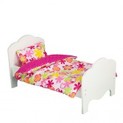 "Olivia's Little World - Little Princess 18"""" Doll Furniture - Single Bed and Bedding Set -Summer Flowers"
