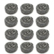 Sparkling Bright Stainless Steel Scrubber - Rust Free Scrub Pads - Magnetic Grade - High Corrosion Resistance - Scrub Pad - 12 Pcs