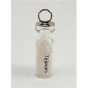 Ezoterikus üveg medál - Tejkvarc (hókvarc)