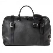 Barber Shop Quiff Doctor Bag Grained Black Leather