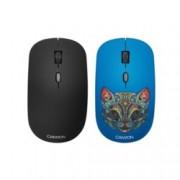 Мишка Canyon, оптична (1600 dpi), безжична, 2x покрития, USB, черна