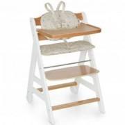 Функционален дървен стол за хранене - Beta Plus White Natur Dots Sand, Hauck, 663158