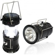 G-MTIN LED Solar Rechargeable 6-9 W Torch Light/ Emergency Lamp (Colors will vary as per Availability)