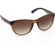 United Colors of Benetton Oval Sunglasses(Brown)