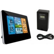 Statie meteo digitala wireless senzor extern ecran LCD higrometru ceas cu alarma calendar