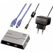 4-portni USB 3.0 hub Hama srebrna/crna