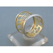 Zlatý dámsky prsteň kúzelny v žltom a bielom zlate DP57412V