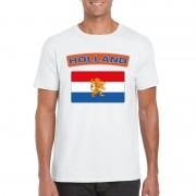 Bellatio Decorations Nederlandse vlag shirt wit heren