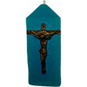Lumanare Decorativa Salvator Mundi din Safir Albastru parfum de Lavanda