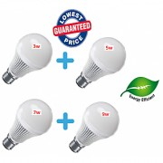 Combo of 3w + 5w + 7w + 9w Imported Led Bulbs