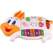 Musical Rabbit Educational Piano Keyboard Toy - Multicolor